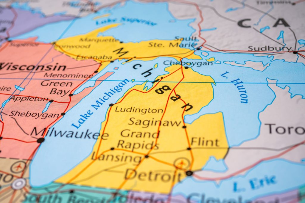 a map of the best places to retire in michigan